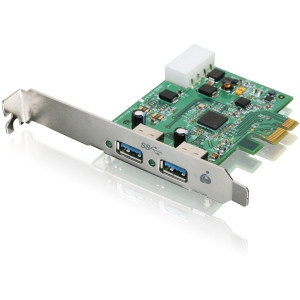 GIC320U - Iogear GIC320U 2-port PCI Express USB Adapter - 2 x 9-pin Type A Female USB 3.0 USB - Plug-in Card