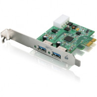 GIC320U - Iogear GIC320U 2-port PCI Express USB Adapter - 2 x 9-pin Type A Female USB 3.0 USB - Plug-in Card