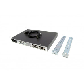 262586-B21 - HP 16-Port IP KVM Console Switch Box 3x1x16 RJ-45 Server 1U Rack-Mountable