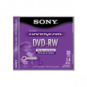 5DMW30L2H - Sony dvd-RW Media - 1.4GB - 5 Pack