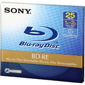 BNE25A - Sony 2x BD-RE Media - 25GB - 1 Pack