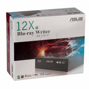 BW-12B1ST/BLK/G - ASUS 12X/8X BD-R/RE SATA Blu-ray Burner with Disc Encryption