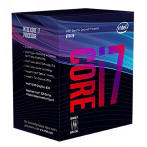 BX80684I78700 - Intel Core i7-8700 6-Core 3.20GHz 8GT/s DMI3 12MB L3 Cache Socket 1151 Processor