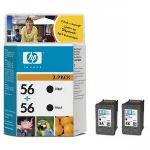 C9502AE - HP No.56 Black Print Ink Cartridge (2 Pack) for HP Deskjet 450 / 450cbi / 450i / Series Printers Digital Copier 410 Series Officejet 4110 / 4110v / 4110xi 169173 Hp