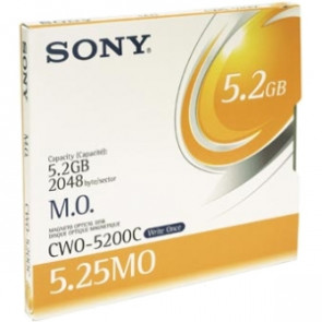 CWO-5200C - Sony 5.25 Magneto Optical Media - WORM - 5.2GB - 8x