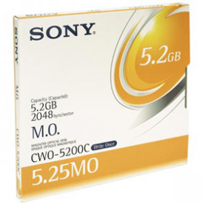 CWO5200N - Sony 5.25 Magneto Optical Media - WORM - 5.2GB - 8x