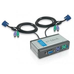 DKVM-2K - D-Link DKVM-2K 2-Port KVM Switch 2 x 1 2 x mini-DIN (PS/2) Keyboard 2 x mini-DIN (PS/2) Mouse 2 x HD-15 Video Desktop