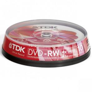 DVD-RW47CCB25 - TDK 4x dvd-RW Media - 4.7GB - 25 Pack Cake Box