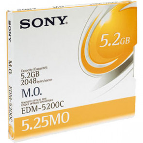 EDM5200CWW - Sony 5.25 Magneto Optical Media - Rewritable - 5.2GB - 8x
