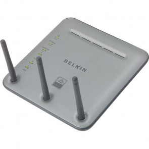 F5D8230-4 - Belkin Pre-N F5D8230-4 Wireless Router IEEE 802.11a/b/g 3 x Antenna ISM Band 108 Mbps Wireless Speed 4 x Network Port (Refurbished)