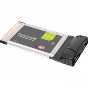 GPS702W6 - Iogear Dual Port eSATA CardBus Card - 2 x 7-pin Serial ATA/150 External SATA