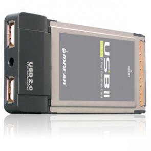 GPU202 - Iogear GPU202 USB PCMCIA CardBus Card - 2 x 4-pin Type A USB 2.0 - Plug-in Module