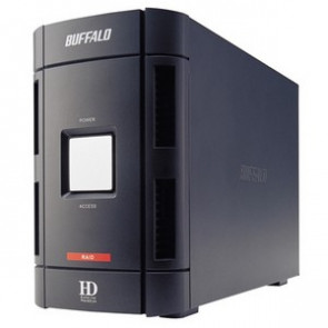 HD-W2.0TIU2/R1 - Buffalo DriveStation Duo Hard Drive Array - 2 x HDD Installed - 2 TB Installed HDD Capacity - Serial ATA/150 Controller - RAID Supported - 2