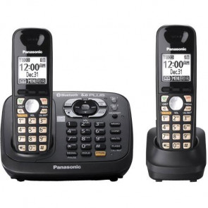 KX-TG6582T - Panasonic KX-TG6582T Duo Cordless Phone 1 x Phone Line(s) 1 x Headset (Used like NEW)
