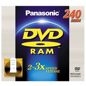 LM-AD240LU - Panasonic 3x dvd-RAM Double-Sided Media 9.4GB