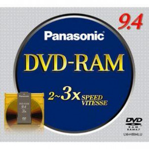 LMHB94LU - Panasonic 9.4Gb Rewritable Single Sided dvd-RAM Media