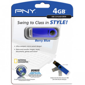P-FD4GB-BTS-BLU-EF - PNY 4GB Micro Swing Attach