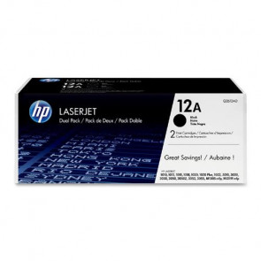 Q2612AD - HP 12A Toner Cartridge (2 x Black) for LaserJet 1020/3020/1022 Series Printer