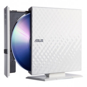 SDRW-08D2S-U-WHT - Asus SDRW-08D2S-U External dvd-Writer - Retail Pack - White - dvd-ram