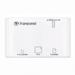 TS-RDP8W - Transcend All-in-1 Multi Card Reader - CompactFlash Type I CompactFlash Type II Microdrive Secure Digital (SD) Card miniSD Card miniSD