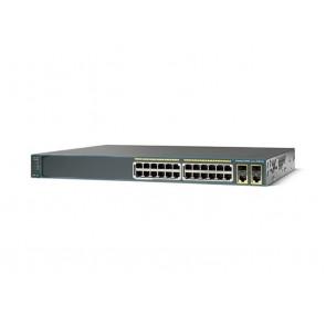 WS-C2960+24PC-L - Cisco WS-C2960+24PC-L 2960-Plus Series 24x Fast Ethernet PoE Lan Base Switch