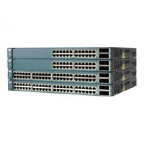 WS-C3560E-48PD-EF - Cisco 48 10/100/1000 PoE ports + 2 X2-based 10 Gigabit Switch