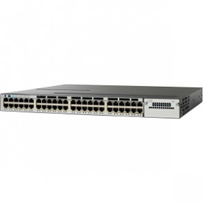 WS-C3750X-48P-E - Cisco 3750-X 48-Port Gigabit PoE+ IP Services Stackable Switch